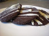 Chocolate Cookies with White Chocolate Mint Drizzle