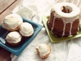Southern Cumpcakes (with honey cream cheese frosting)