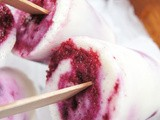 Yogurt and Blueberry Paletas