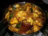 Potato &chickpea curry kuzhambu