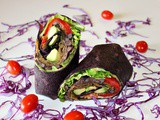Black Bean Vegetable Wrap with Chipotle Mayo