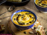Čorba od crvenog sočiva i bundeve / Red lentils and pumpkin cream soup
