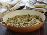 Orzo pasta sa graškom i slaninom / Orzo pasta with peas and bacon