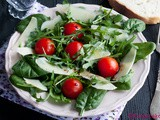 Salata sa rukolom, spanaćem i čeri paradajzom / Salad with rocket salad, spinach and cherry tomatoes