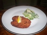 Italian Chicken Cutlet and Caesar Salad