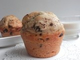Olive Oil Muffins with Ghirardelli Dark Chocolate Chips and Almonds