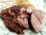 Sočni krmenadl s jabukama i lukom :: Pull apart pork rib roast with apples and onions
