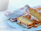 Orange yogurt loaf with orange glace icing for Alphabakes