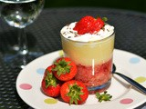 Strawberry honey and lavender trifles, serendipity in a glass