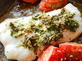 Baked cod with gremolata