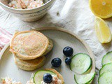 Buckwheat Pancakes with Smoked Salmon and Cottage Cheese