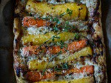 Carrot and thyme tart
