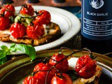 Cherry tomato bruschetta with balsamic