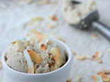 Dairy free coconut and almond ice-cream