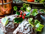 Easy Buche De Noel (Christmas Yule Log Chocolate Cake)
