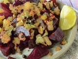Fried beetroot