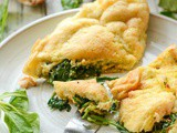 Kale and spinach souffle omelette