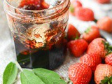 Strawberry, sage and red wine jam
