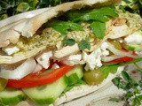 A Cold Meat Sandwich on Monday ~ Greek Salad and Chicken in Pita Bread