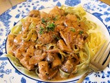 A Vegetarian Random Recipe for New Year! Mushroom Stroganoff