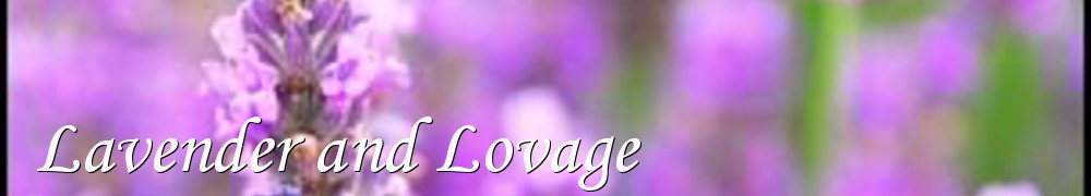 Very Good Recipes - Lavender and Lovage