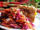 Brighten up a Dull January Day with Dazzling Winter Coleslaw ~ Red Cabbage, Apple and Pecan Salad