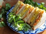 Cookbook Review: Australian Women's Weekly ~ Only Four Ingredients ~ Egg and Coleslaw Double Decker Sandwiches