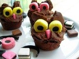 Getting ready for Halloween, Fun for the Kids in the Kitchen and Twit Woo Hooting Halloween Owl Cupcakes