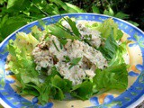 Herbs on Saturday ~ Chicken Salad in a Creamy Chive and Lovage Dressing