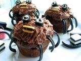 More Halloween Treats for the Children....Spooky Spider Cakes for a Howling Halloween