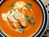 Short but not Sweet on Slow Sunday with Comforting Carrot, Cumin and Tomato Soup