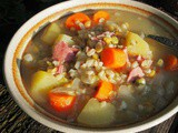 Soup for Saturday ~ Farmhouse Style Ham and Split Pea Soup with Thyme