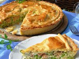 Summer Herb and Wild Salmon Pie with Fresh Garden Peas