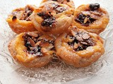 Tea Time Treats for January ~ Little Custard Pies with Mincemeat and Almonds