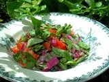 Winter, Warm Days and Wild Purslane Salad With Olive Oil and Lemon Dressing