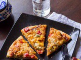 Baby corn and Capsicum Pizza