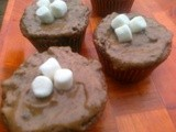 Eggless malt cupcakes with malt buttercream