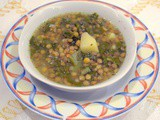 Adas bil Hamod (Lentil soup with Swiss chard and lemon)