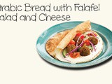 Arabic Bread with Falafel, Salad and Cheese Recipe