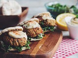 Baked Falafel Sliders with Tabbouleh and Maple Tahini Sauce recipe