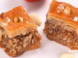 Baklava with walnuts, almonds and hazelnuts recipe