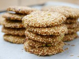 Barazek or Sesame Seed and Pistachio Cookies - Christmas Treats