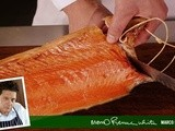 Carve a side of smoked salmon