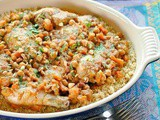 Chicken Tagine with Apricots, Almonds & Chickpeas Recipe
