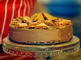 Chocolate and cardamom mousse cake with homemade honeycomb recipe