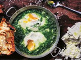 Easy green shakshuka