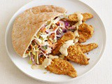 Falafel-Crusted Chicken With Hummus Slaw Recipe