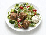 Falafel Salad with Hummus Dressing Recipe