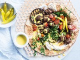 Falafel-spiced lamb wraps with turmeric tahini recipe