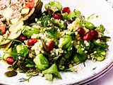 Fennel, pomegranate & broad bean salad recipe